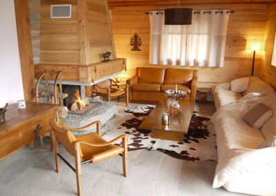 Chalet Ibex - Living room 2nd level