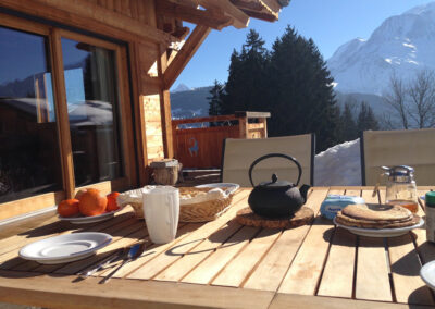 Chalet Ibex - Breakfast with moutain view