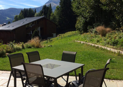 Chalet Ibex - Terrace in the Summer