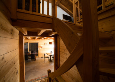 Chalet Ibex - Staircase from 2nd to 3rd level