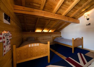 Chalet Ibex - Twin bedroom 3rd level