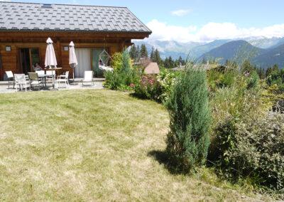 Chalet Ibex - Terrace and garden