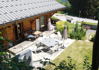 Chalet Ibex - Terrace view from above