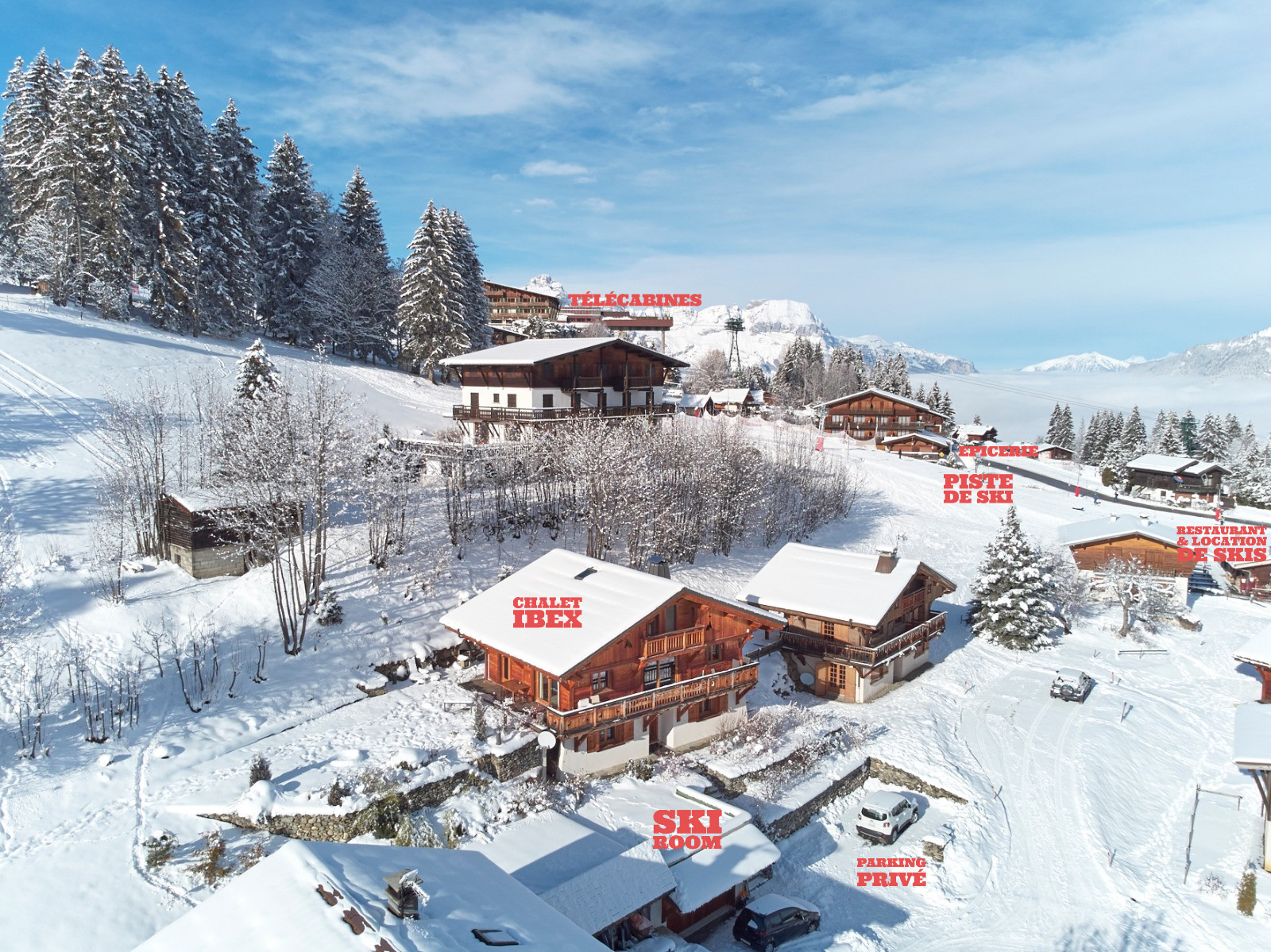 Chalet Ibex - View form above