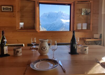 Chalet Ibex - View from dining-room 2nd level