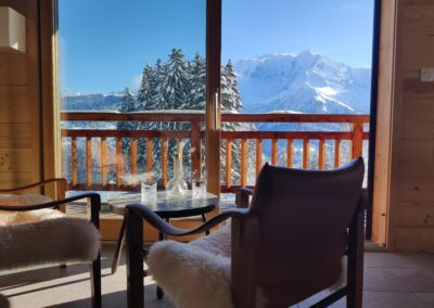 Chalet Ibex- View from living-room 2nd level